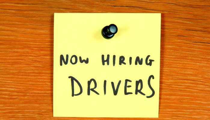 Now Hiring drivers