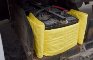 Yellow haz-mat melt blown rolls
