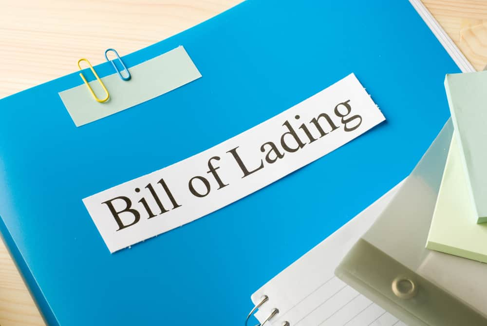 Bill of Lading documents ERG Environmental Services Livonia Michigan