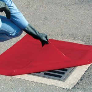 Economy Red Drain Guards 12in